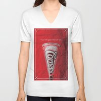 shaun of the dead V-neck T-shirts featuring Shaun of the Dead by bergertime