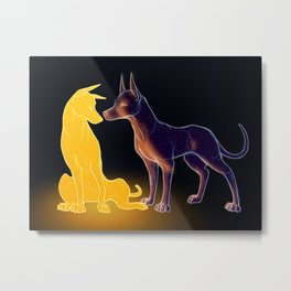 The Sun and the Moon Metal Print