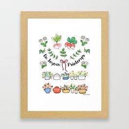Un joyeux printemps Framed Art Print
