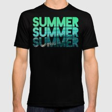 Summer Summer Summer MEDIUM Black Mens Fitted Tee