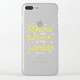 Shine Like Stars Clear iPhone Case
