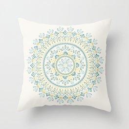 Jardin Mandala - Lime Throw Pillow