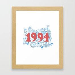Birth Year Framed Art Print