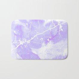 Modern abstract blush violet white marble pattern Bath Mat