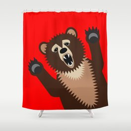 The Bear Says Boo Shower Curtain