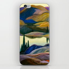 Franklin Carmichael - Mirror Lake - Canada, Canadian Watercolor Painting - Group of Seven iPhone Skin