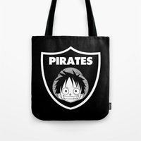 pirates Tote Bags featuring Pirates  by Buby87