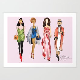 Fashion Drawing Series Pouch, Pinales Illustrated Art Print
