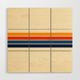 Classic Retro Stripes Wood Wall Art