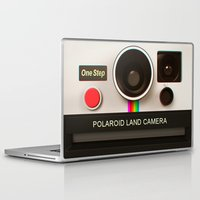 polaroid Laptop & iPad Skins featuring POLAROID by MiliarderBrown