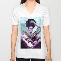 journey V-neck T-shirts featuring Journey by Slaveika Aladjova