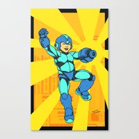 mega man Canvas Prints featuring Mega Man by Ramon Villalobos