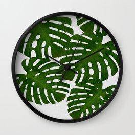 Monstera Leaf I Wall Clock
