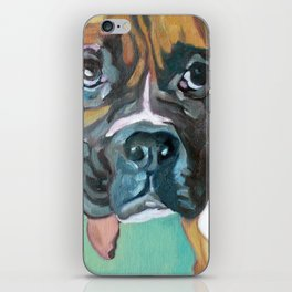 Drako the Rescued Boxer iPhone Skin