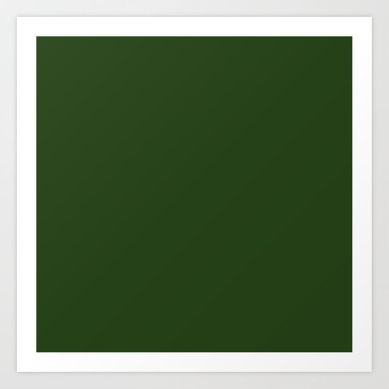 Solid Dark Forest Green Simple Solid Color All Over Print by podartist