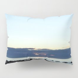Mean faced cloud hides the Sunset Pillow Sham
