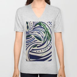 Water Flowing Plant Unisex V-Neck