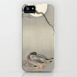Ducks at full moon - Ohara Koson iPhone Case