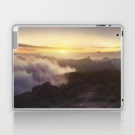 Sunset over the clouds Laptop & iPad Skin
