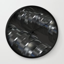 Pattern of brushed metal cylinders Wall Clock
