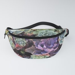 Colorful Succulents Low Poly Geometric Triangles Fanny Pack