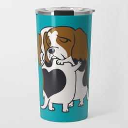 Basset Hound Hugs Travel Mug