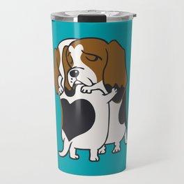 Basset Hound Hugs Travel Mug