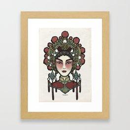 Painted Face Series : Cantonese Opera Singer Framed Art Print