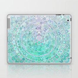 Turquoise Ice Flower Mandala Laptop & iPad Skin