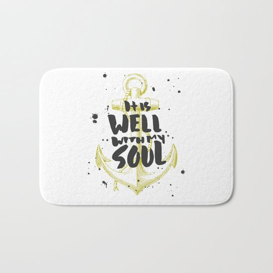 It is Well With My Soul Bath Mat