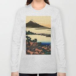 """Hokusai (1760–1849) """"Dawn at Isawa in Kai Province"""" Long Sleeve T-shirt"""