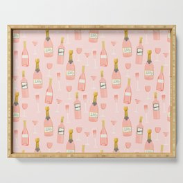 Rose all day - rose, wine, champagne, lady art, trendy fun girls art Serving Tray