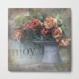 Enjoy roses Metal Print