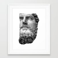 greek Framed Art Prints featuring greek by bobbybard