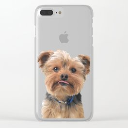 Yorkie Sticking Tongue Out | Dogs | Nadia Bonello Clear iPhone Case