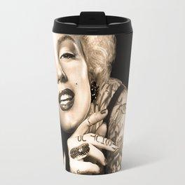 Marilyn Vintage Tattoo Portrait | Celebrity Fan Art Travel Mug