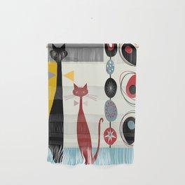 Mid-Century Modern Art Cats Wall Hanging