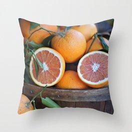 Juicy Citrus Throw Pillow
