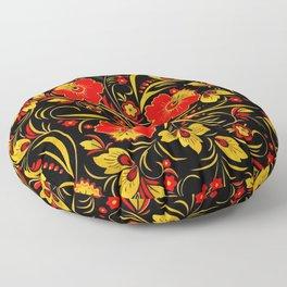 Russian khokhloma Floor Pillow