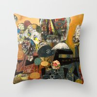 gumball Throw Pillows featuring Gumball Golden Hour by Jesse Reno