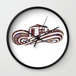 Colombian Sombrero Vueltiao in Mola Pattern Wall Clock