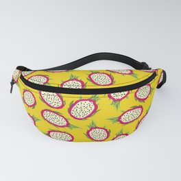 Dragon fruit on yellow background Fanny Pack