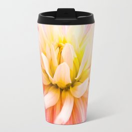 A summer Dahlia flower on vivid background Travel Mug