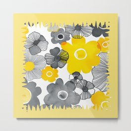 Yellow Fresh Metal Print