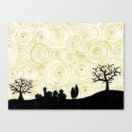 Under 1000 golden suns Canvas Print