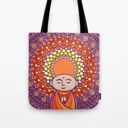 Jizo Meditating upon a Ruby Lotus Tote Bag