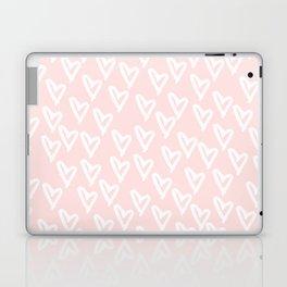 White hearts Laptop & iPad Skin