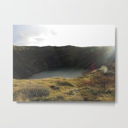 Iceland Golden Circle - Kerið Metal Print