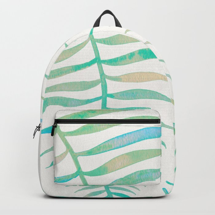 Palm Leaf – Sea Foam Palette Backpack