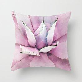 Pink Succulent Throw Pillow